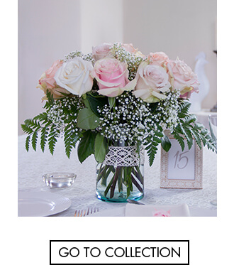 DIY roses centerpiece