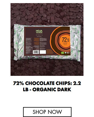 72% Chocolate chips: 2.2 lb - Organic Dark