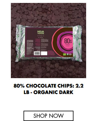 80% Chocolate chips: 2.2 lb - Organic Dark