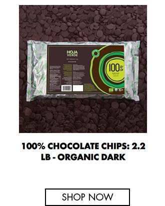 100% Chocolate chips: 2.2 lb - Organic Dark