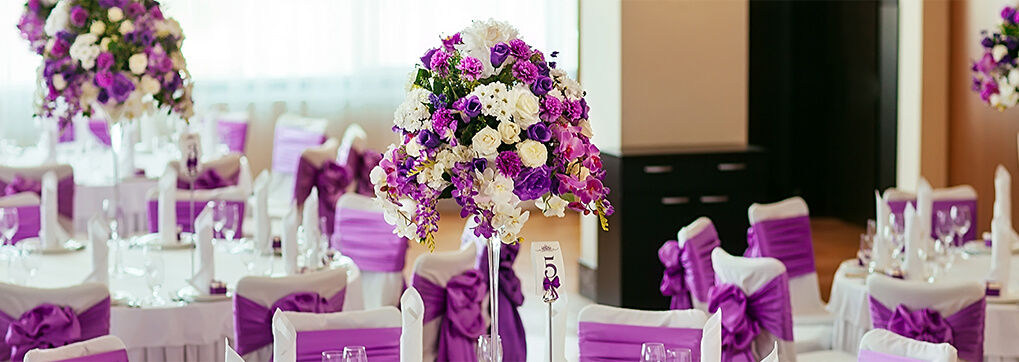 The meaning of purple flowers in weddings