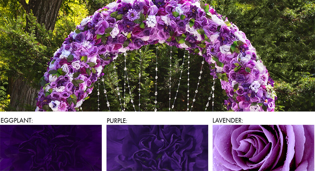 Wedding backdrops, arches, hanging pomander and other statement arrangements