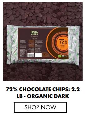 72% Chocolate Chips: 2.2 lb - Organic Dark Chocolate