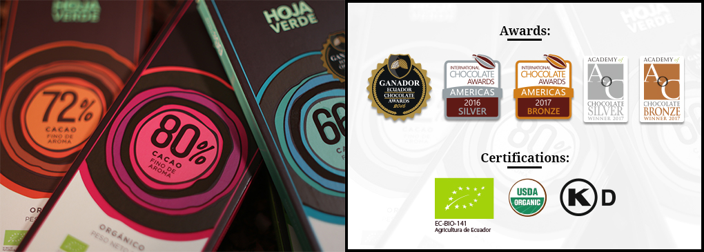 Hoja Verde Chocolate has resulted in an exceptional range of internationally awarded premium products