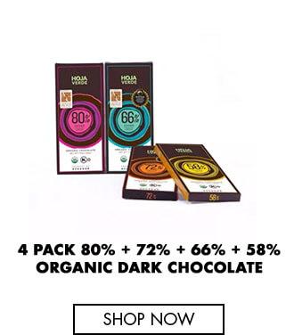4 Pack Organic Dark Chocolate