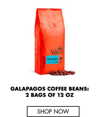 Galapagos coffee beans: 2 bags of 12 oz