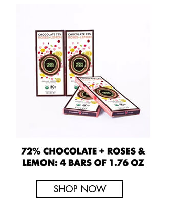 72% Chocolate + Roses & Lemon