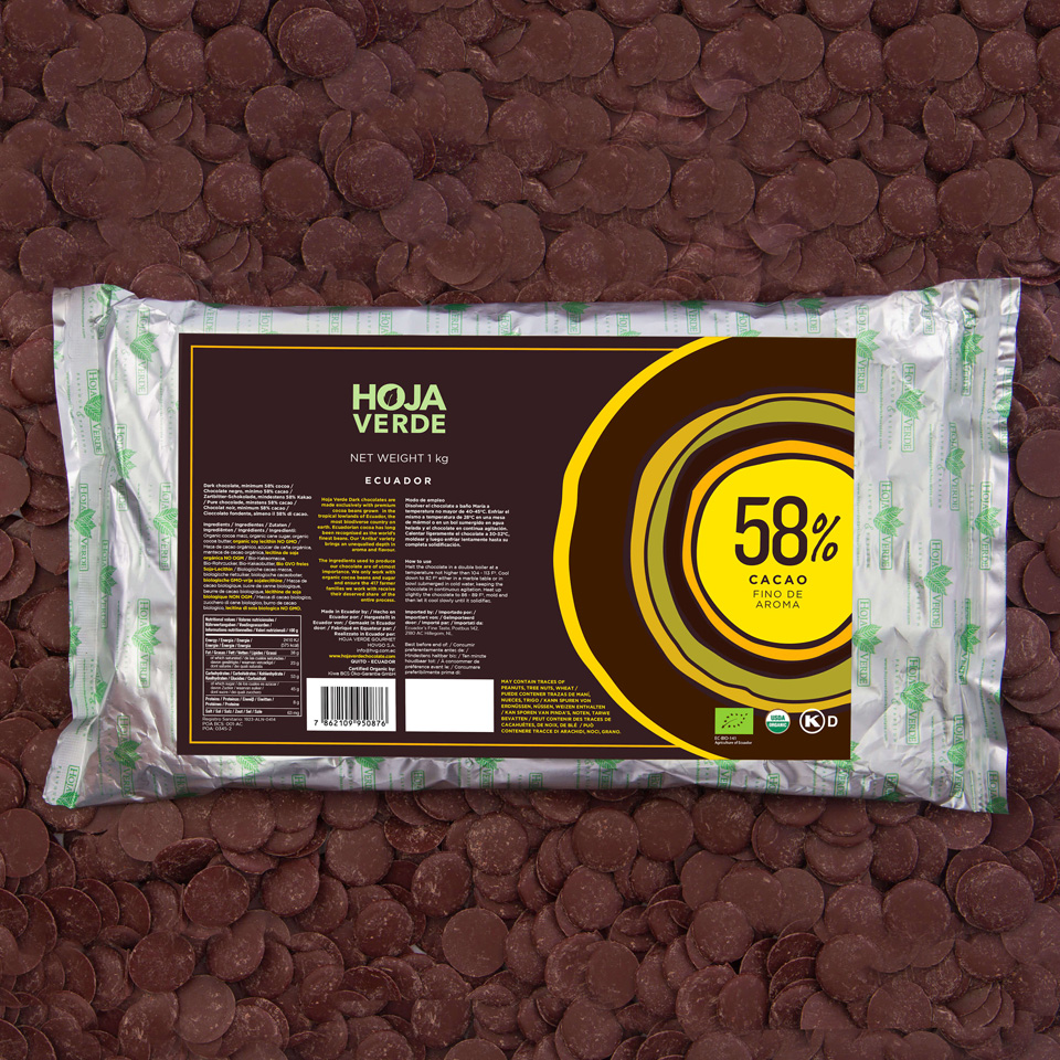 58% Chocolate Chips: 2.2 lb - Organic Dark Chocolate