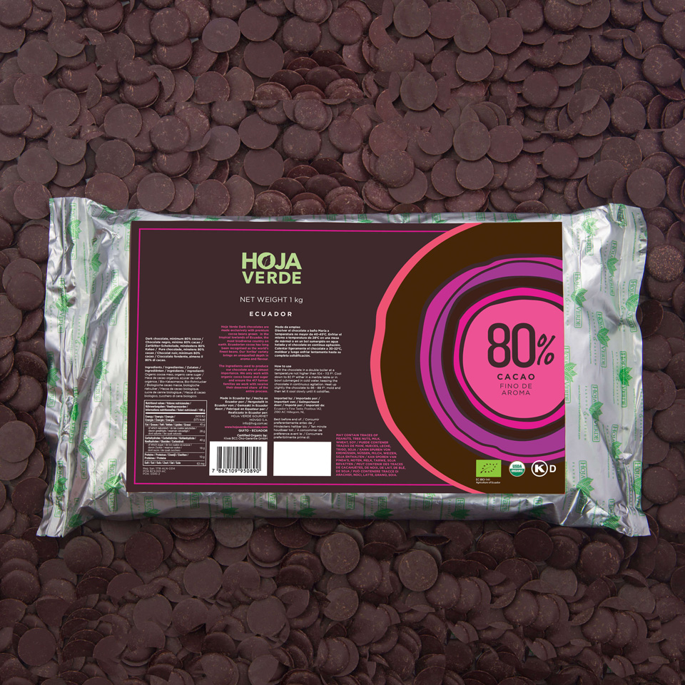 80% Chocolate Chips: 2.2 lb - Organic Dark Chocolate