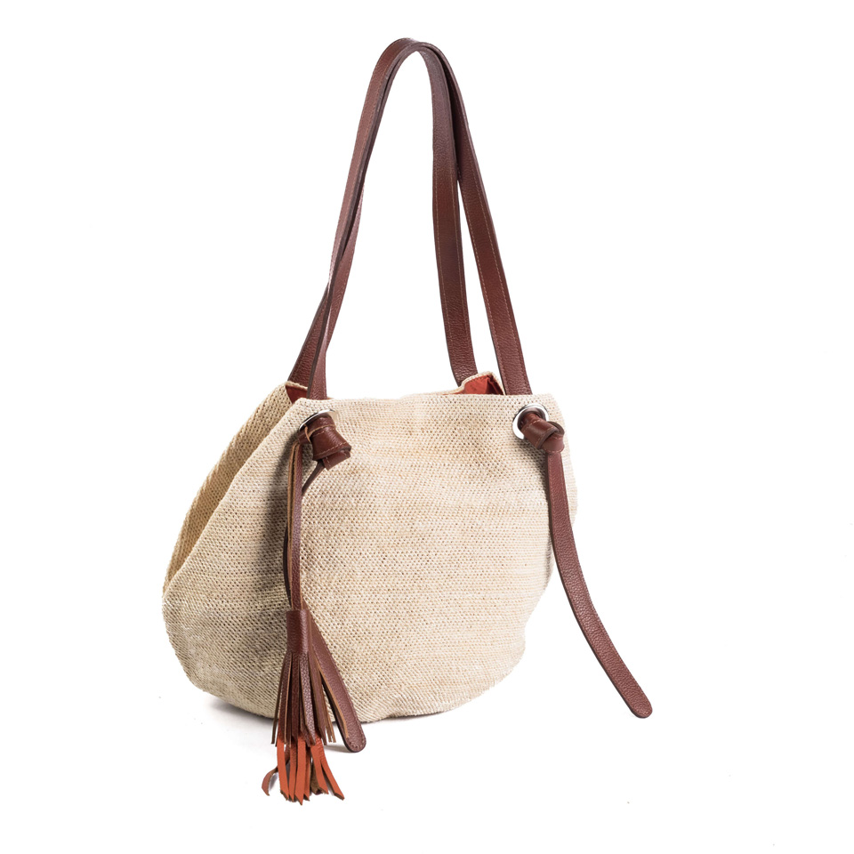 Beach Knot Bag - Light Brown Leather