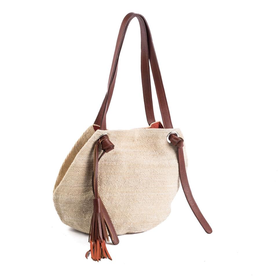 84ffe75296cd Beach Knot Bag - Light Brown Leather