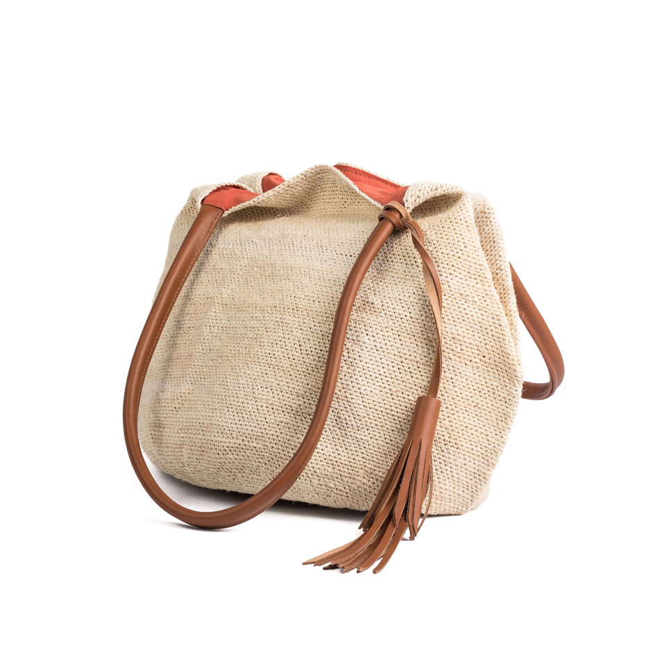 Beach Bag - Light Brown Leather