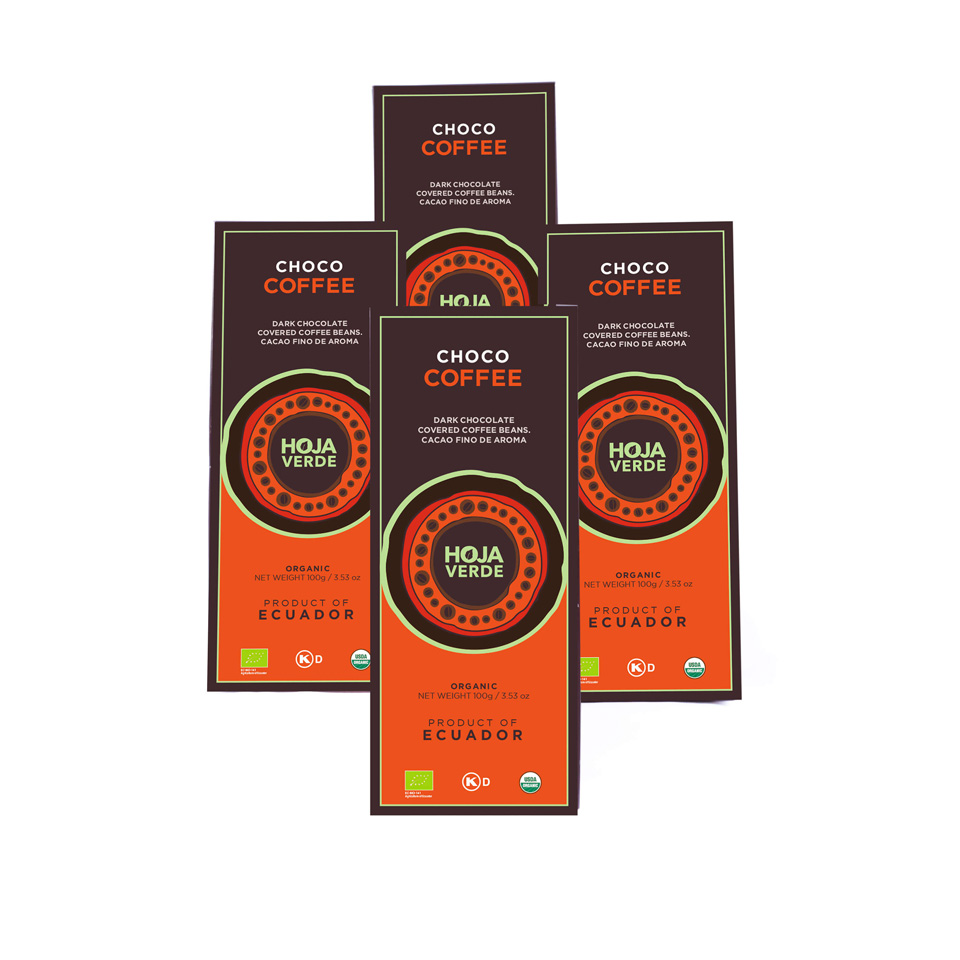 58% Choco Coffee: 4 Packs of 3.5 Oz each - Organic Dark Chocolate