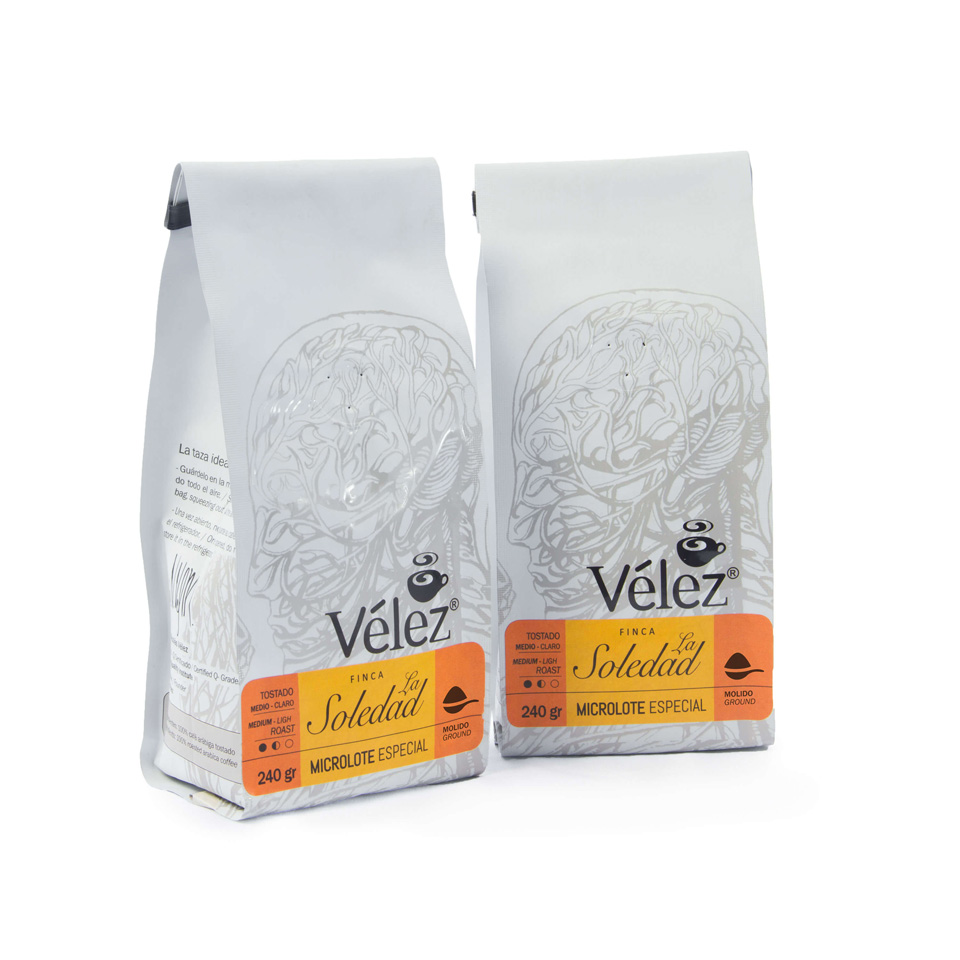 La Soledad Ground Coffee: 2 Bags Of 8.46 Oz each - Gourmet Coffee from Ecuador