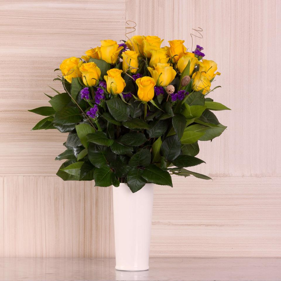 Sunrise Gleam Yellow Roses Exotic Flowers From Ecuador