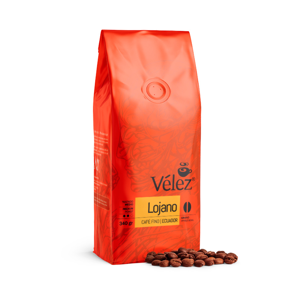Lojano Coffee Beans: 4 Bags of 12 Oz each - Gourmet Coffee from Ecuador