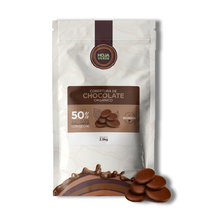 50% Chocolate with Milk Chips: 5.5 lb - Organic Dark Chocolate